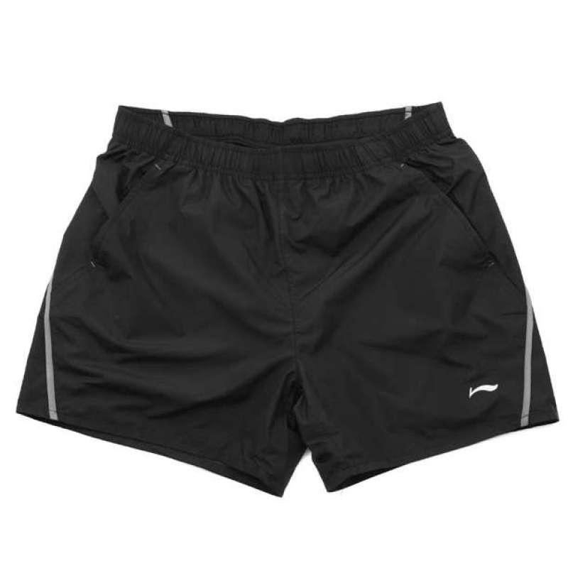 李宁跑步系列男短裤akse137-13xl图片