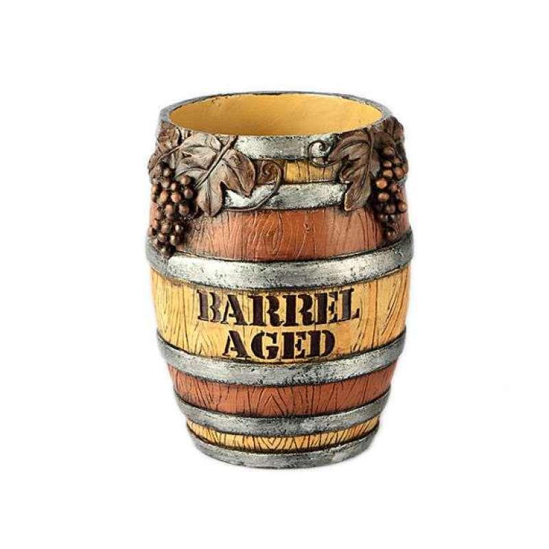 evergreen欧式树脂复古酒桶红酒架酒托图片