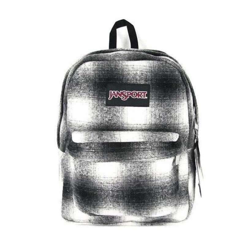 jansport休闲背包trs7-2uz黑白方格