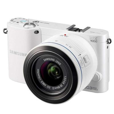 再特价:SAMSUNG 三星 NX1000 单电套机 白色(20-50mm镜头+SEF8A闪光灯+8G卡)