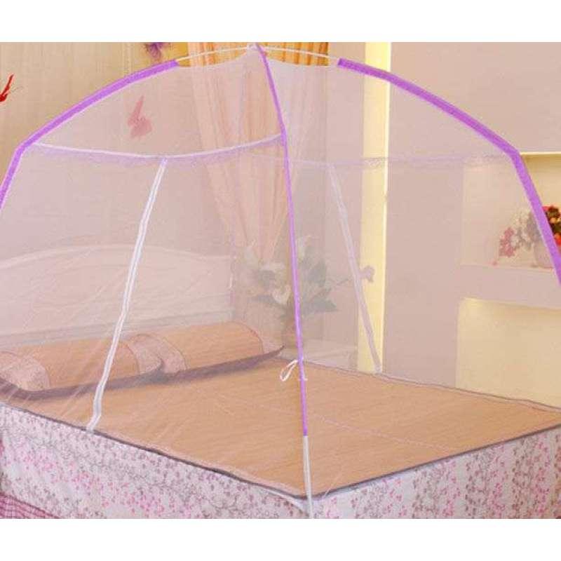 伞型蚊帐安装图解