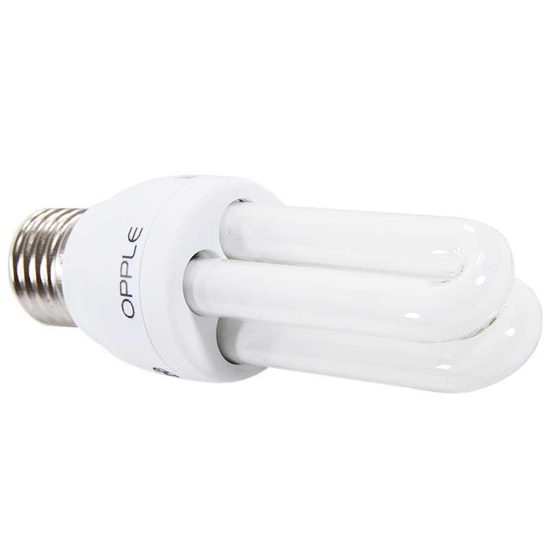 欧普照明 节能灯 2u-8w-e27-黄光图片
