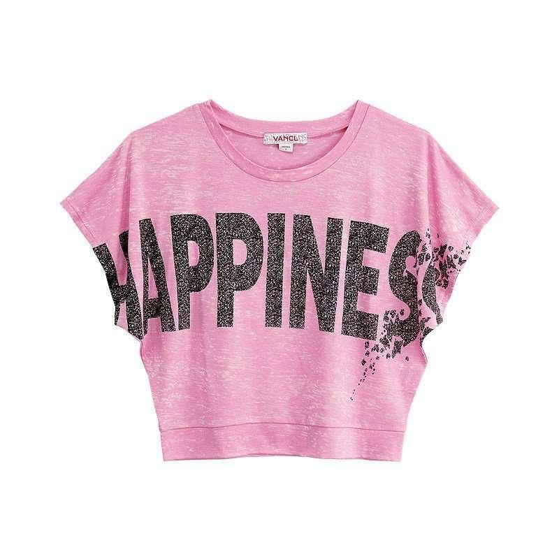 vancl凡客诚品 street短款字母t恤 粉色 xs