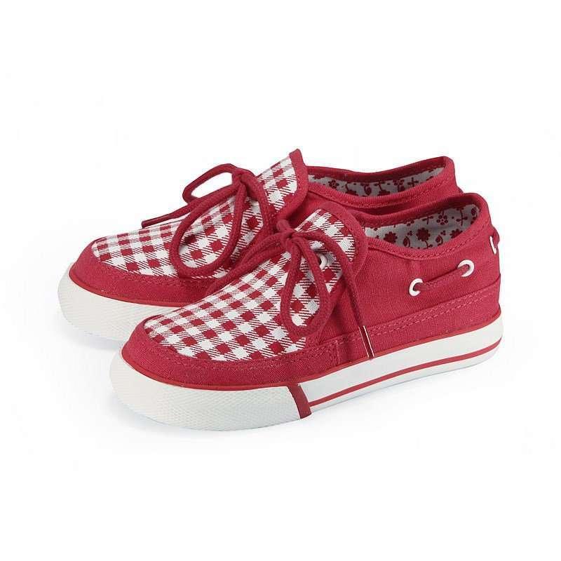 vancl凡客诚品 可爱格仔帆布鞋(儿童) 红白格子 28