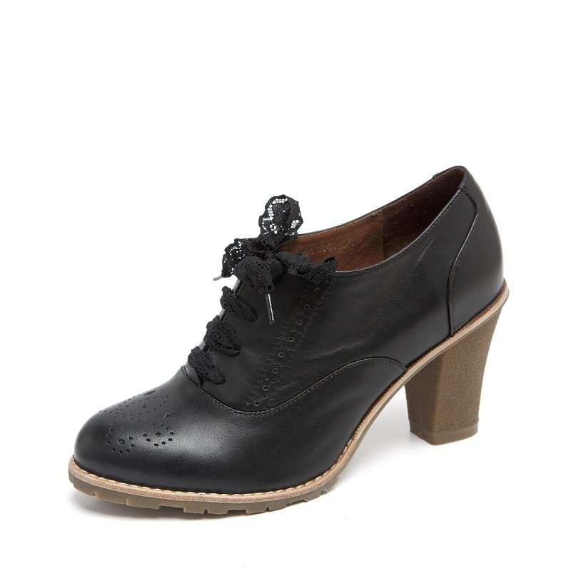 senda 森达2012秋季黑色打蜡牛皮女皮鞋201-3d 39 (商品编号