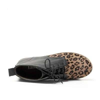 tata/他她牛皮/马毛yk2-4d女鞋2012秋季酷感豹纹时尚
