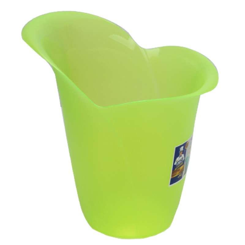 世家800100233时尚花型垃圾桶-绿色图片