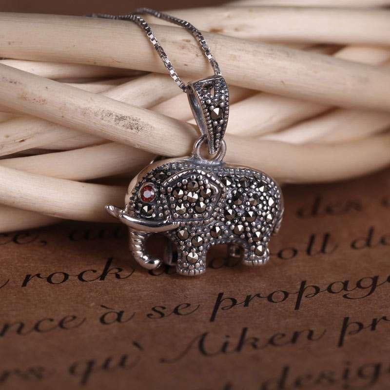 唯一(winy)可爱小象 925银复古风格项链 复古色 配礼盒 323xl4
