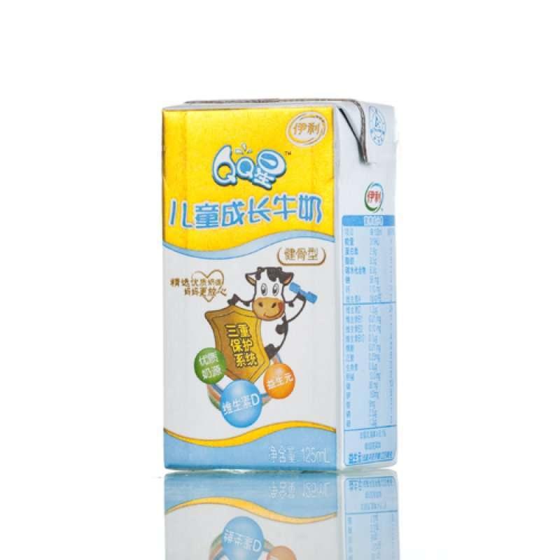伊利qq星儿童成长牛奶(健骨型)125ml*20图片