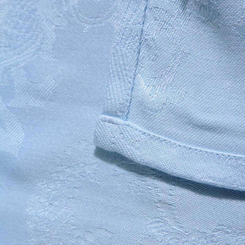 水星家纺 毛毯/盖毯 爽滑竹纤维盖毯(蓝色)100*150cm