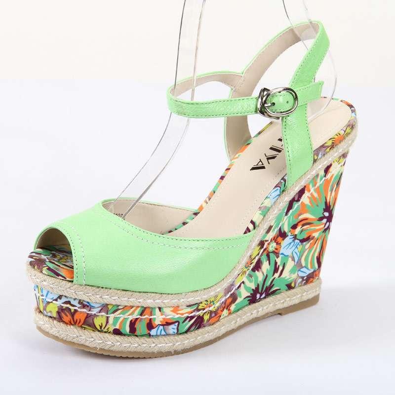 safiya索菲娅夏季新款百搭羊皮超高跟舒适女装皮凉鞋
