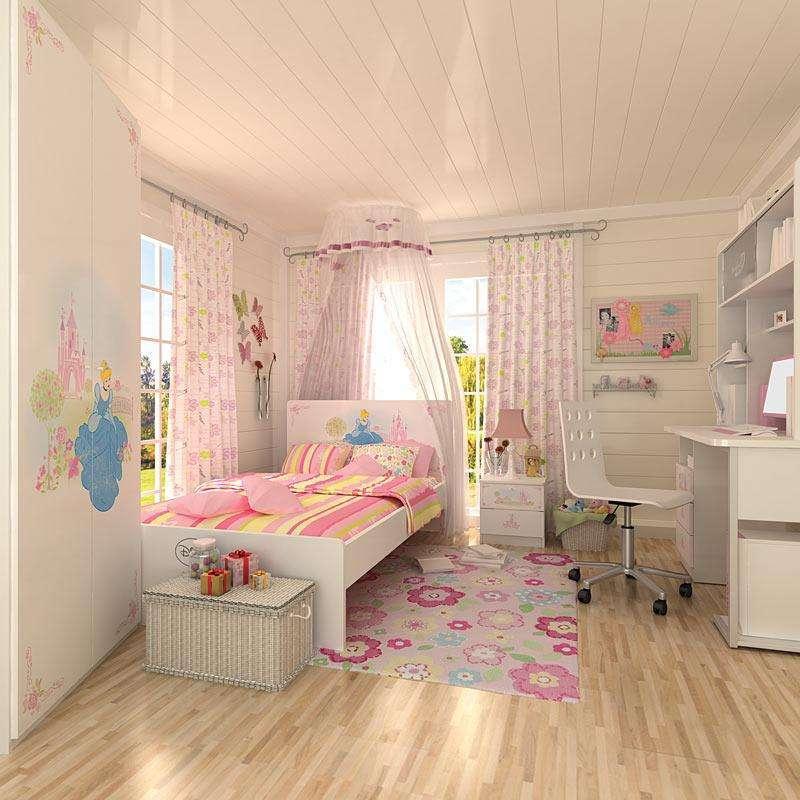 迪士尼酷漫居儿童家具公主童画梦四件套1米2床/床头柜