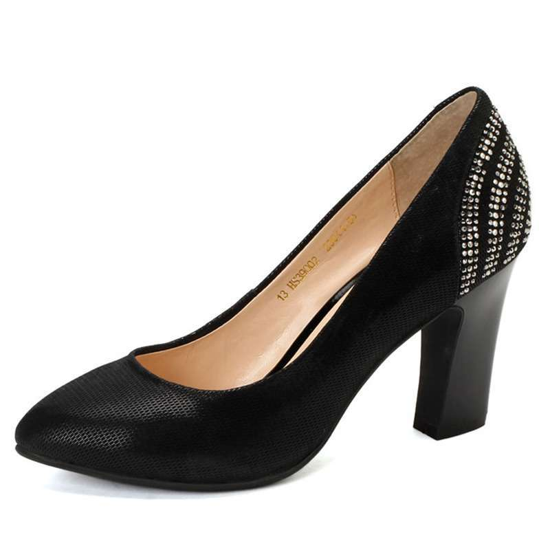哈森春季新款女鞋休闲时尚百搭羊皮单鞋hs39002 黑色35 (商品编号:103图片