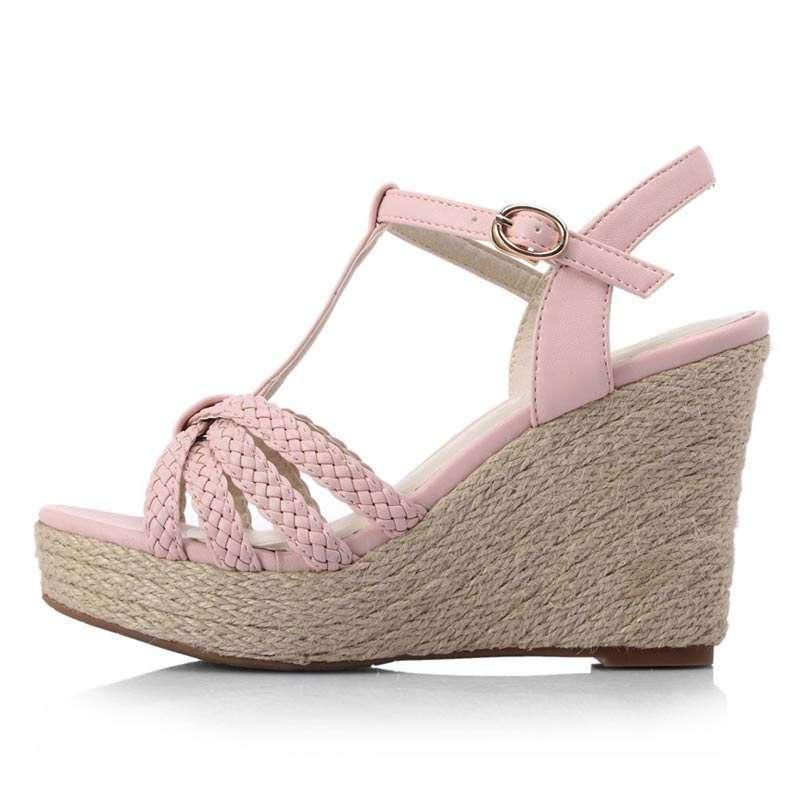 罗马鞋坡跟凉鞋_罗马坡跟女 鞋凉鞋