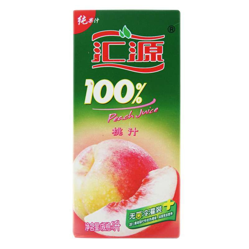 汇源100%桃汁1l图片_苏宁易购