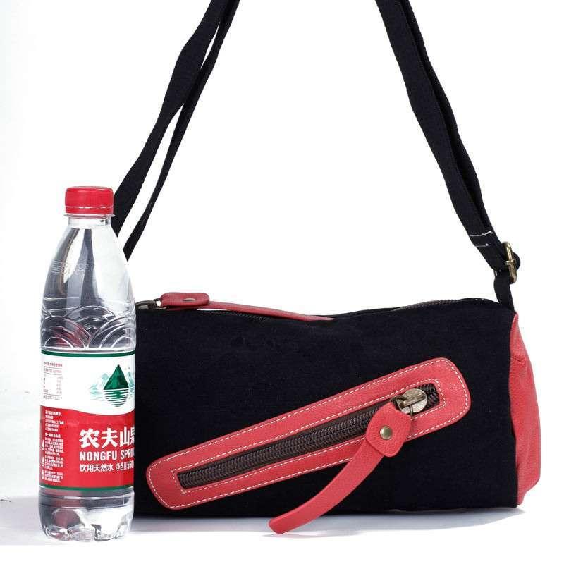 易秀 女包小包包单肩包斜跨包韩版斜挎包时尚可爱小挎包休闲帆布包 bf