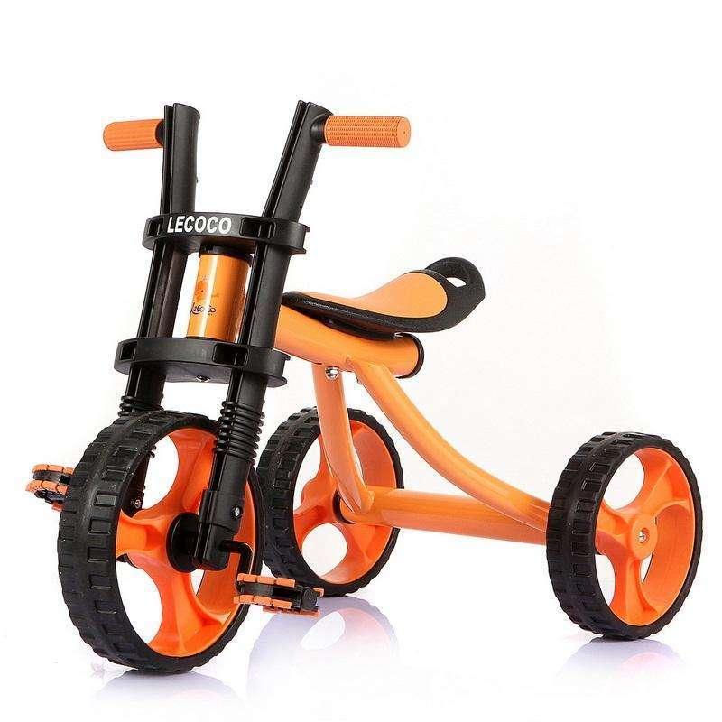 lecoco乐卡儿童三轮车宝宝脚踏车沙滩车带轴承哈雷车