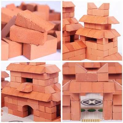 bricker小砖家儿童手工diy仿真砖建筑动手玩具