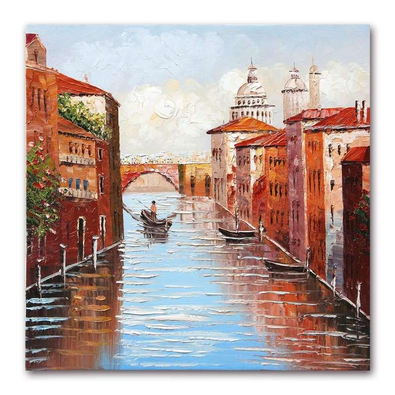 威尼斯小镇手绘图片