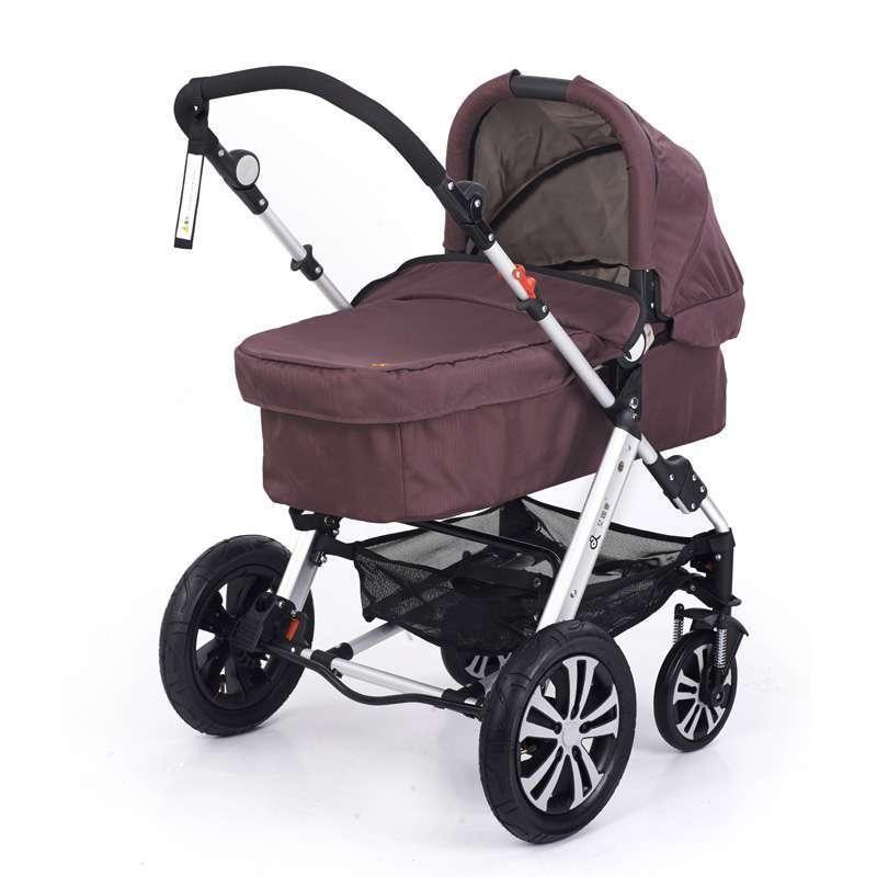 艾珈壹婴儿车折叠四轮可坐躺婴儿推车宝宝高景观避震