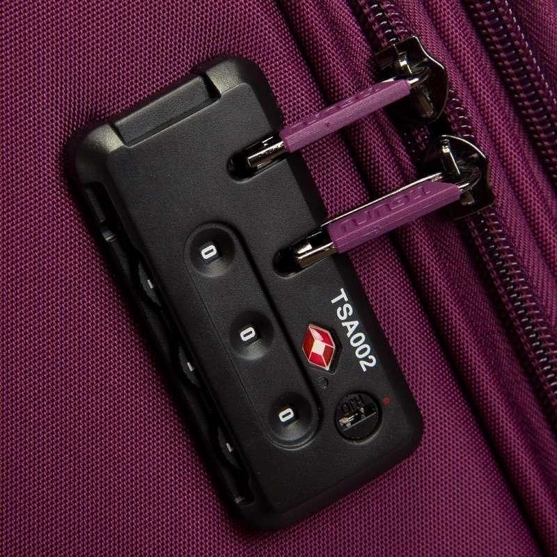旅行大师t1059 进口材料海关锁高档拉杆箱旅行箱终身保修 22寸 紫色