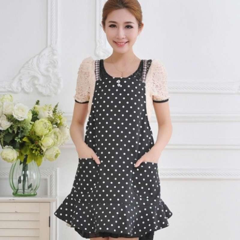 up-hunceo 日式个性语录趣味围裙 韩版可爱荷叶边时尚