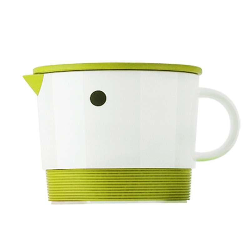 艾可思 时尚纹雀杯(小杯) 情侣杯子 亲子陶瓷杯 带盖水杯卡通杯