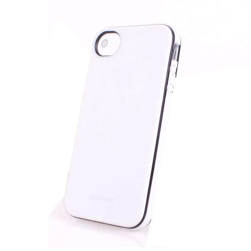苹果手机4壳_美趋(emarcher)苹果 iphone4/4s 手机壳 磨砂 透明 两条边保护套 白底