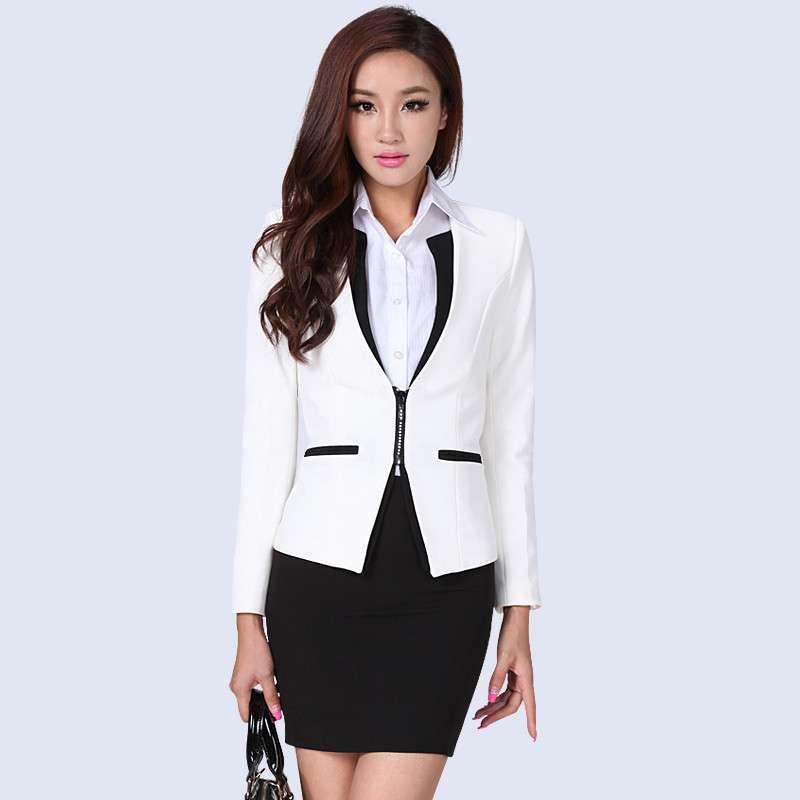 伊木子2013秋冬装新款长款韩版修身白领职业女西装878