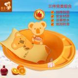 喜多 婴幼儿洗浴用品组合 大浴盆+浴床+湿度计 30550+30600+30602