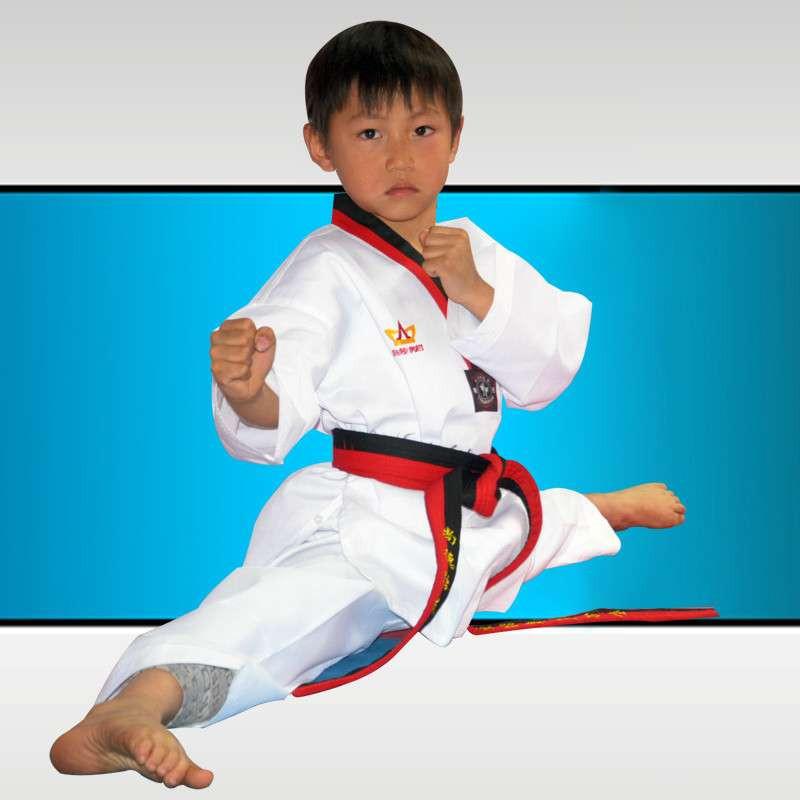 跆拳道服白色儿童 必备跆拳道服装 精纺工艺面料 白色