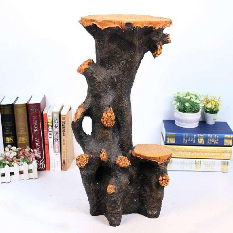 ica愉家艺品 仿树根底座装饰品家居摆件 流水喷泉工艺