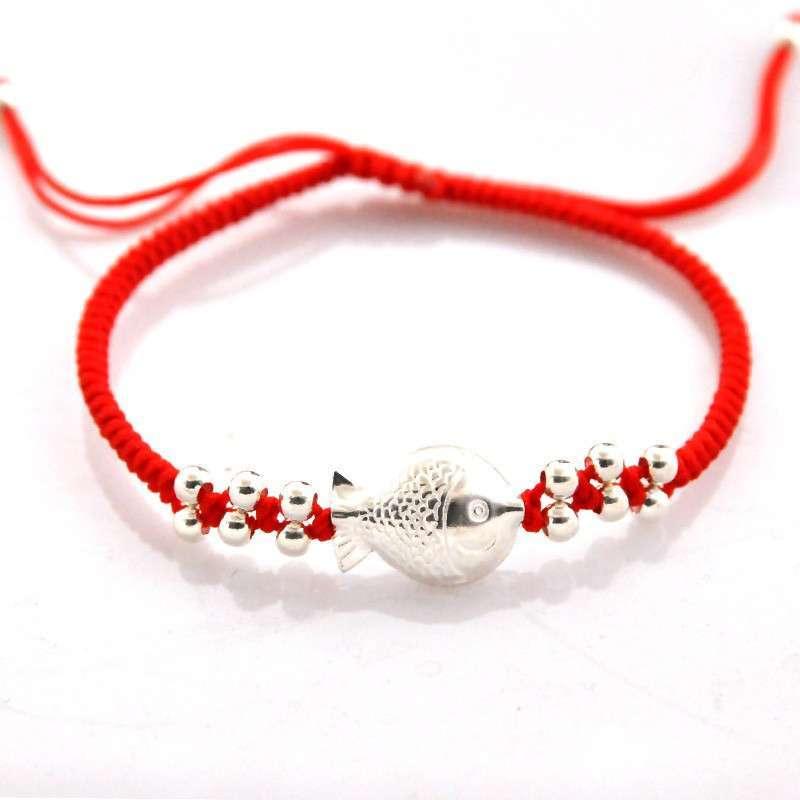 悦人手工编织银珠手链(年年有余)