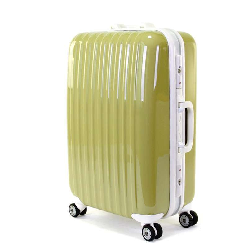 vosloo正品铝框拉杆箱女登机旅行箱行李箱包万向飞机轮皮箱24寸抹茶色