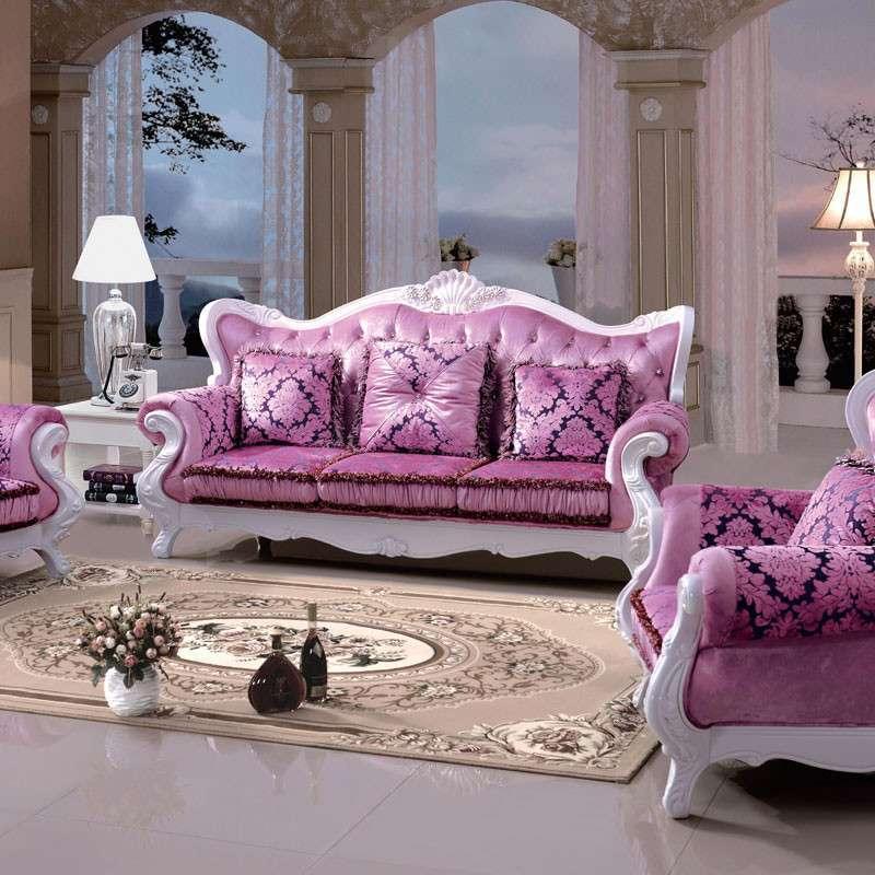 欧式新古典客厅布艺沙发组合家具