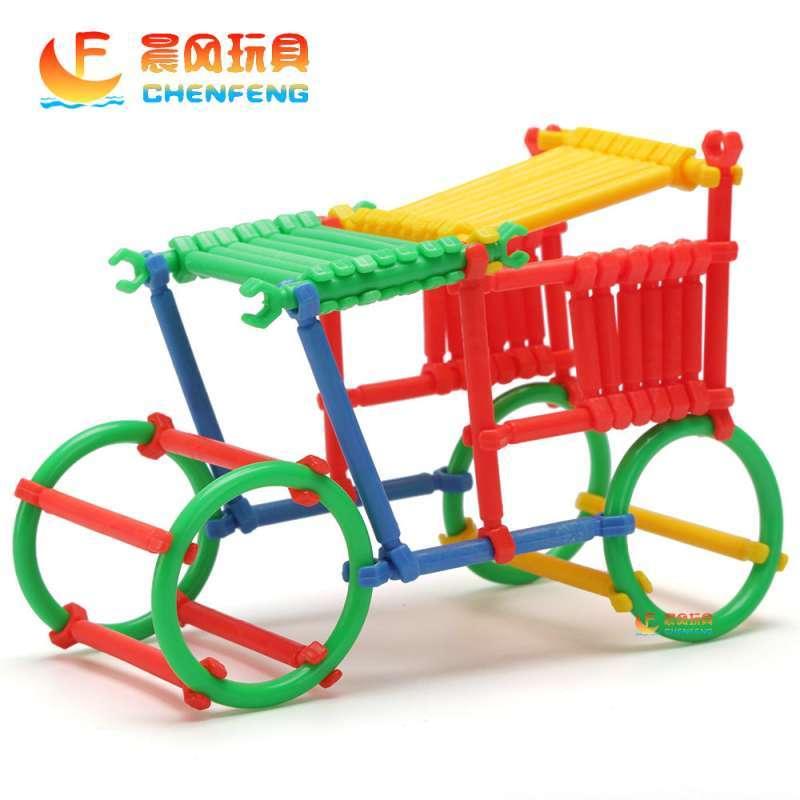 晨风玩具 儿童桌面益智玩具式积木环扣拼插拼图配对聪明棒 (商品编号