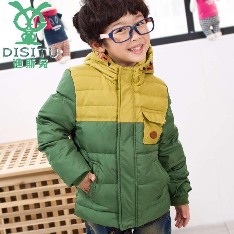 男童秋冬装款2013童装 儿童羽绒服新款韩版中大童加羽绒厚款外套 潮