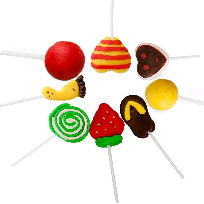儿童益智创意彩泥 超级棒棒糖彩泥 趣味彩泥 易造型 可以反复使用