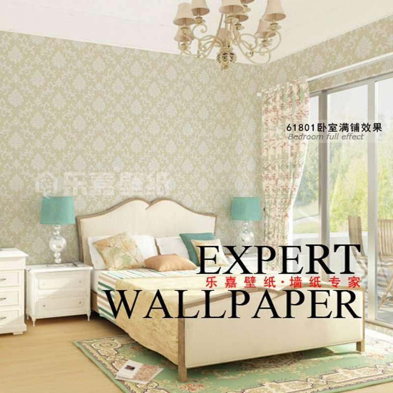 乐嘉无纺布 欧式洛可可大花 客厅卧室满铺床头电视背景墙16801 (商品