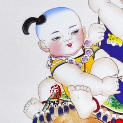 【红泥坊】杨柳青年画 春牛图 天津特色 娃娃海报 中国梦 传统民俗