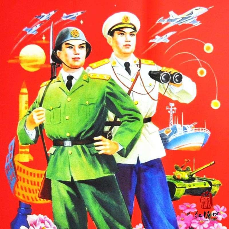 红色中国梦儿童画