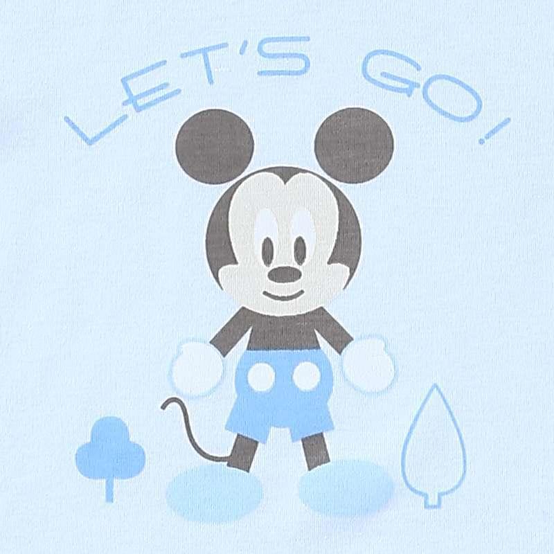迪士尼宝宝(disneybaby)小清新乐园肩开套装 蓝色 80码