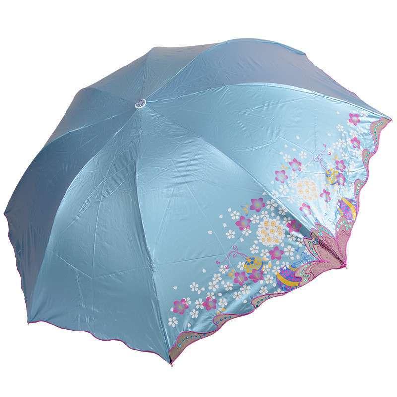 天堂伞 蕾丝刺绣花边晴雨伞 女士伞 超强彩胶防晒遮阳