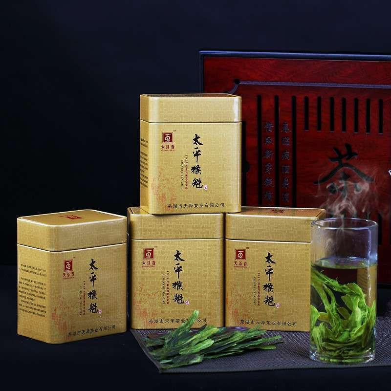 2014年新茶 天泽春茶叶 特级太平猴魁 绿茶 1915国礼图片