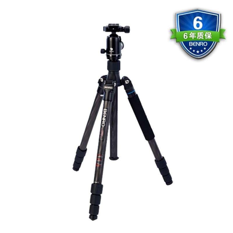 游天使II单反相机8层结构高端碳纤维三脚架套装 C2682TV2 大三元专