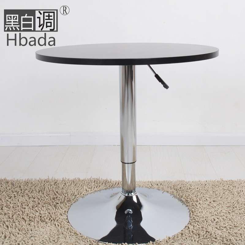 【黑白调】欧式咖啡桌子hcj52圆桌时尚简约田园沙发小
