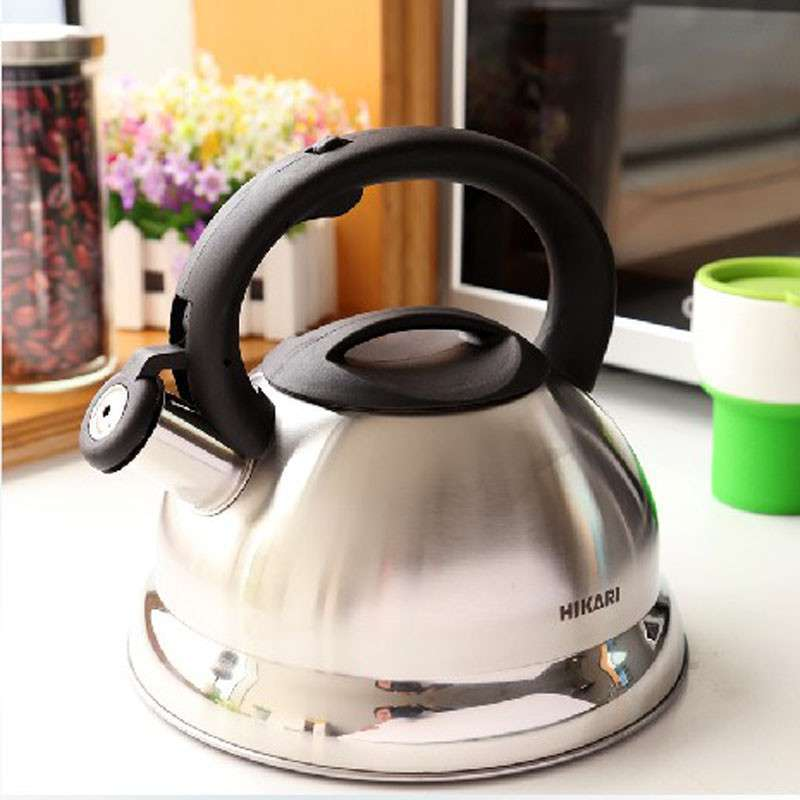 日光生活 欧式不锈钢水壶 烧水壶 热水壶 3l 加厚底 h