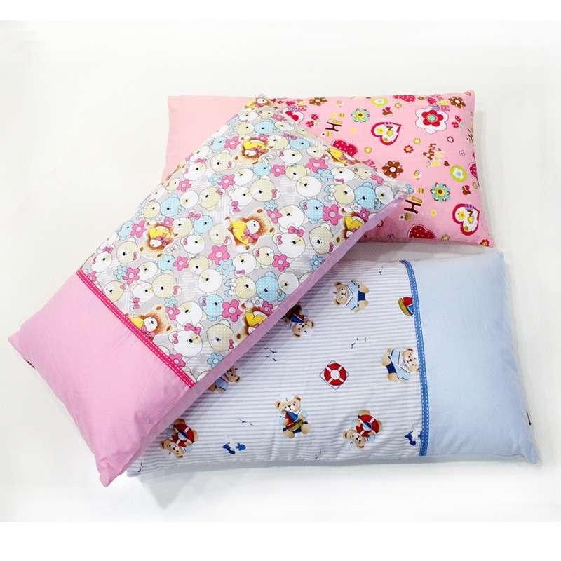 儿童拼色卡通枕 幼儿枕