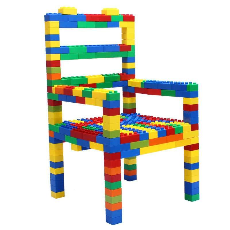 乐高式100粒大块颗粒塑料积木儿童益智拼插