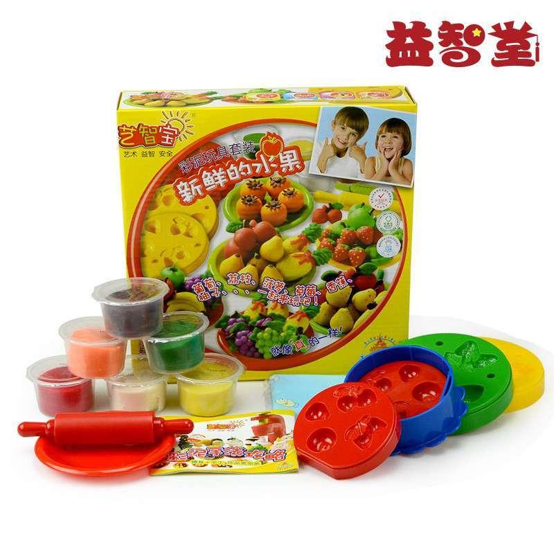 艺智宝彩泥 新鲜的水果 安全无毒 3d橡皮泥儿童益智玩具 套装带模具